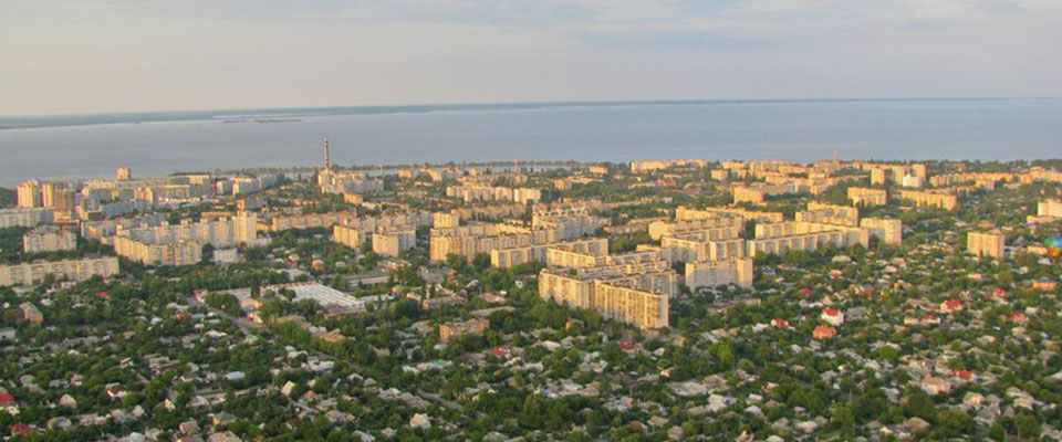 Cherkassy a bird's-eye